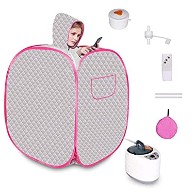 Wodesid Portable Saunas Tent with Steam Generator, Herbal Box, Remote Control Personal Indoor Sauna Spa for Weight Loss, Detox, Relaxation at Home