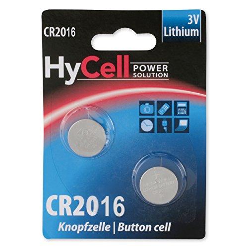ANSMANN 5020182 Lithium Knopfzelle CR2016 für Garagentoröffner, Alarmanlage, Funkauslöser silber