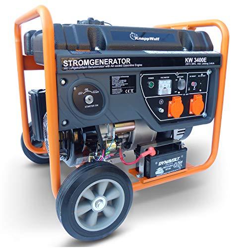 KnappWulf Generator Stromerzeuger KW3400 mit Elektro Starter 230V 1 Phase Notstromaggregat