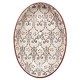 Tranquillo Seifenschale Lilia aus Keramik mit Löchern für den Wasserablauf 13,5 x 9,5 x 2 cm
