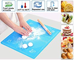 Fomatrade Silicone Baking Mat,Silicone Pastry Mat for Pastry Rolling with Measurements, Thick Non Stick Baking Mat with...