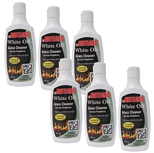 Rutland Products Rutland 1/2-Pint White-Off Glass Cleaner, 8 Fluid Ounce, 8 Fl Oz - 565, Pack of 6