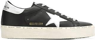 Luxury Fashion   Golden Goose Women G35WS945B9 Black Leather Sneakers   Spring-summer 20