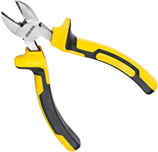 DOWELL Diagonal Cutting Pliers 6 Inch Diagonal Cutters Wire Cutters Durable Nickel Chromium Steel Construction for Electri...