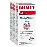 LACALUT AKTIV Mundspülung, 300ml Mundspül-Lösung, zur täglichen Vorsorge gegen Zahnfleischentzündungen, Plaque-Bakterien und Karies, 3x300ml