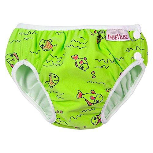Maillot de bain bébé couche lavable poisson vert 6-8 kg IMSE VIMSE