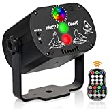 Party Lights, DJ Disco Stage Lights 60 Led Patterns Projector Effects Strobe Light with Remote Control Sound Activated for Christmas Halloween Decorations Gift Birthday Festival Bar Club Party Show
