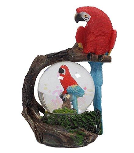 Glitzerkugel Papagei Schneekugel Tier Tiere Vogel Vögel Schneekugeln Ara