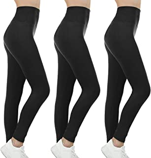 Gnpolo Womens Black High Waisted Leggings Pack Soft Slim Tummy Control Trousers Yoga Pants