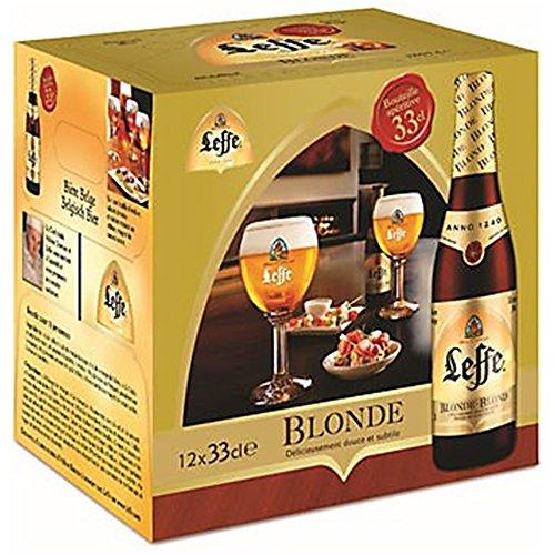 Original Belgisches Bier - Leffe Blond obergäriges Klosterbier aus Belgien, 8 Flaschen 330 ml. Ohne Verpackung