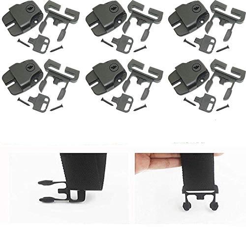 AUXPhome [6 Packungen Spa-Whirlpool-Abdeckung, gebrochenes Verriegelungs-Set mit Schlüsseln und Hardwaren/ACW-Verschluss, um defekte Verriegelung für Spa-Whirlpools und andere zu ersetzen
