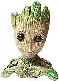 Flowerpot Treeman Baby Groot Succulent Planter Cute Green Plants Heart-Shaped Action Flower Pot(Love)