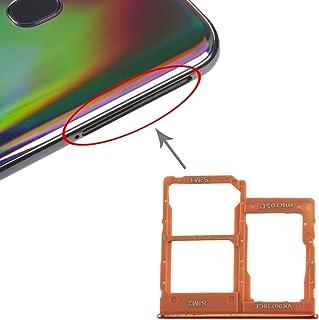 GXX Lin SIM Card Tray + SIM Card Tray + Micro SD Card Tray for Galaxy A40 (Black) (Color : Orange)