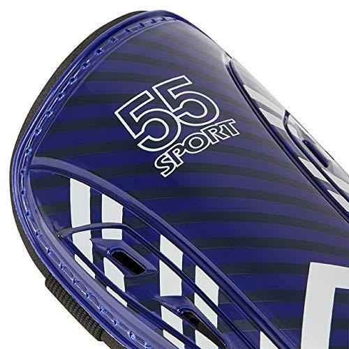 55 Sport Eclipse Lite Ventilated Football Shin Guards - Midnight Blue - Medium