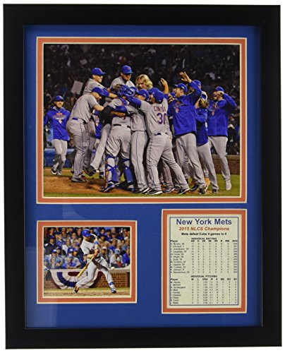 "2015 New York Mets NLCS Champions 11"" x 14"" Framed Photo Collage by Legends Never Die, Inc."