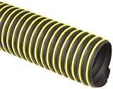 Flexadux T-7W Thermoplastic Rubber Duct Hose, Black, 6' ID, 0.030' Wall, 25' Length