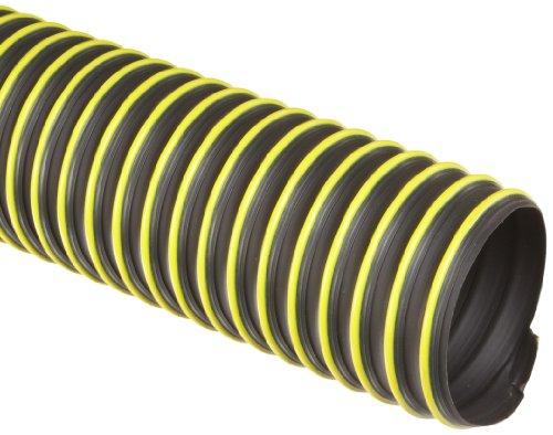 Flexadux T-7W Thermoplastic Rubber Duct Hose, Black, 3' ID, 0.030' Wall, 25' Length