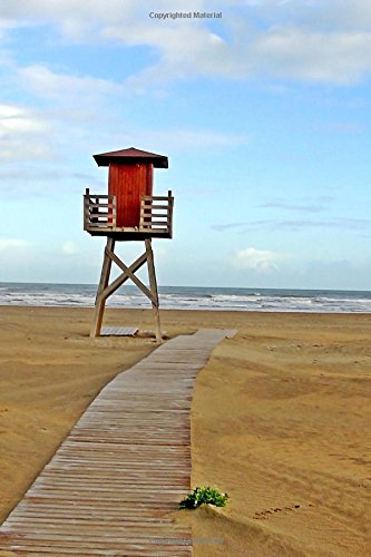 Lifeguard Tower on the Beach in Huelva Punta Umbria Spain Journal: 150 Page Lined Notebook/Diary