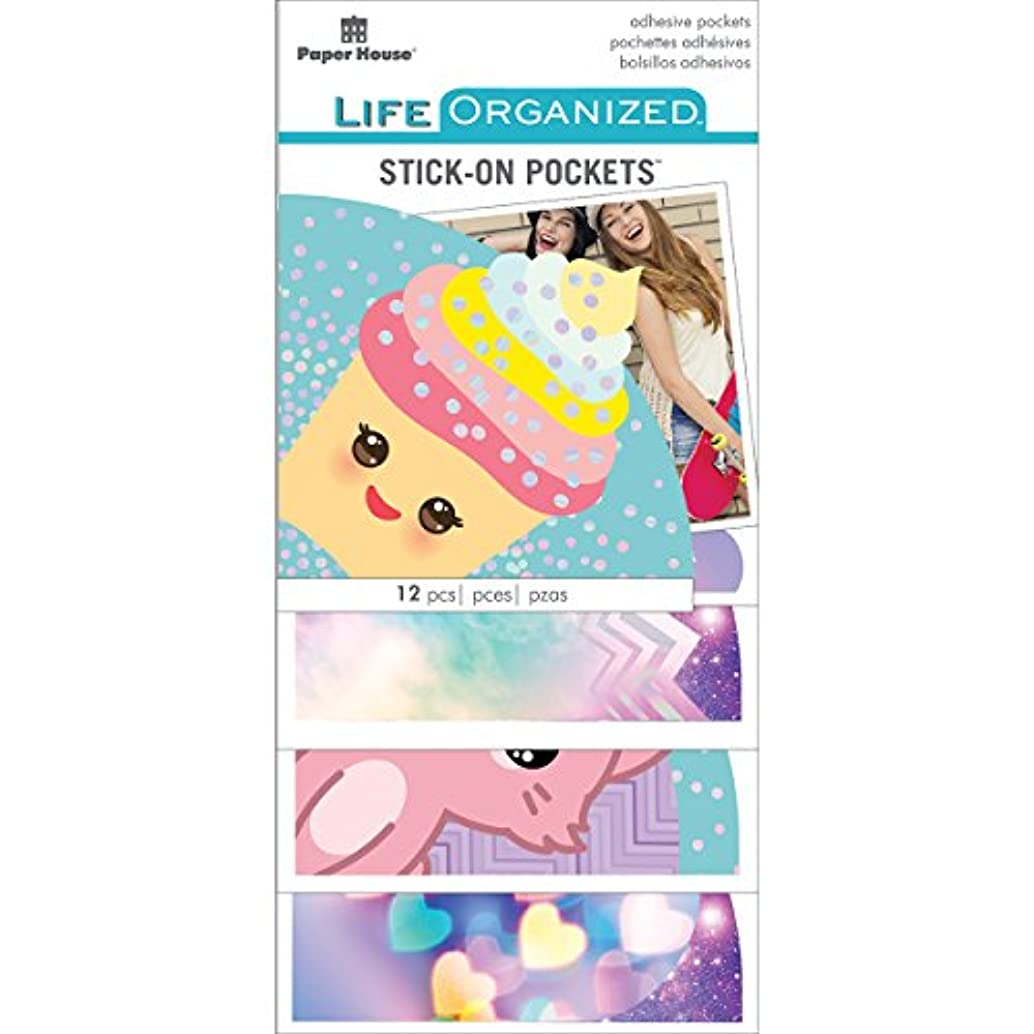 Paper House Productions Kawaii Stickers, Pockets, 3-Pack,