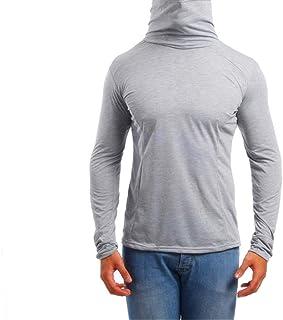 Maglietta Uomo Felpa con Cappuccio Uomo Manica Lunga Fashion Design Confortevole Casual Slim Light T-Shirt Uomo Nuovo Semp...