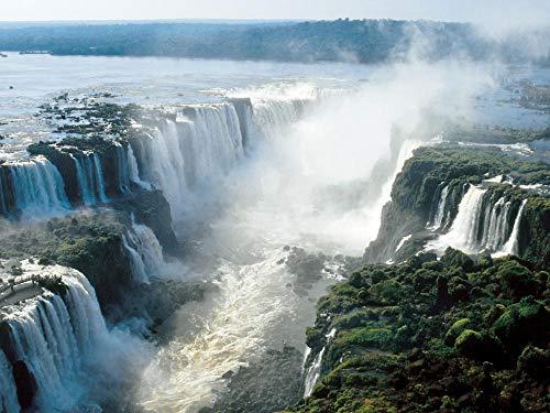 Puzzle Adultos 500 Piezas Rompecabezas para Niños Hermosas Cataratas del Iguazú Jigsaw Puzzle Clásica Challenging Teen Casual Puzzle Educational Game Regalo 38X52Cm