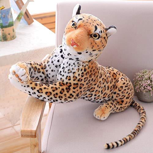 30-120 CM Pantera de Leopardo Negro Gigante Tigre Blanco Amarillo Juguetes de Peluche Animal de Peluche Almohada de Moda muñeca para niños 40cm YellowLeopard