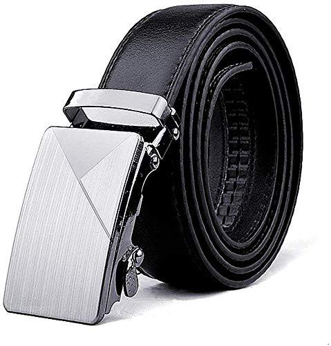 Modfash Goodinhome - Cinturón de piel con trinquete y hebilla deslizante automática...