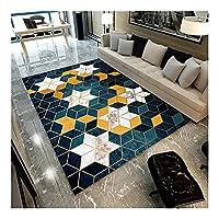 WENXIU 現代ホーム長方形ラグリビングルームコーヒーテーブルパッドソファフットパッドベッドルームベッドサイドには、抜け毛やフェージングがなければ機械を洗浄することができます (Color : K, Size : 180*280cm)