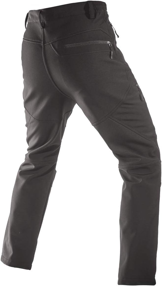 Caminar FREE SOLDIER Pantalon Impermeable Hombre Pantalones de Invierno con Forro Polar T/érmico para Exteriores para Trekking Pantalones de Trabajo Softshell Pescar