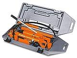 Unicraft Karosserie Richtsatz (Presskraft 10 t, Zylinderhub 130 mm, Kunststoffkoffer mit Rollen), 6201205