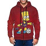 フード付きスウェットシャツ Simpsons ザ・シンプソンズ (4) 男女兼用 ジュアル 春 秋 通学 暖かい スウェットシャツ 防寒 保温する プルオーバー スポーツ カジュアル プリント カップル 応援服 メンズ パーカー スウエットパーカー 長袖