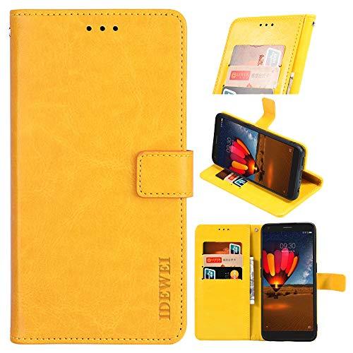 BellaHülle BV9100 Handyhülle Hülle Leder Flip Hülle [Kartenfach] [Standfunktion] [Magnetschnalle] Wallet Cover für BV9100 Smartphone(Gelb)