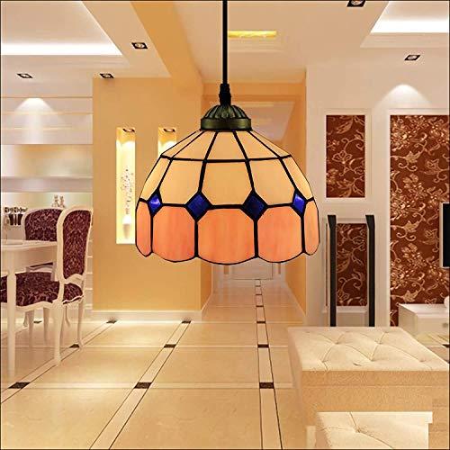 DALUXE 20 cm Tiffany Colgantes de Estilo Ligero, Nacido Mini luz de Techo, 1 luz, lámparas de Cristal restaurantes llenos de Humo por habitación Sala de Estar,5