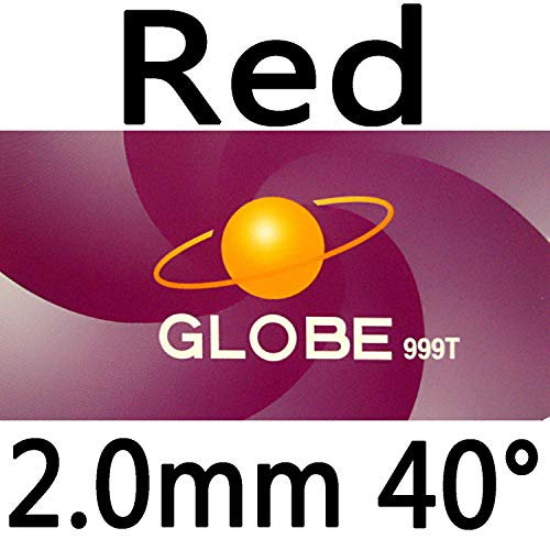 Affordable Globe 999T (999 T, 999-T) Pips-in Table Tennis (Ping Pong) Rubber with Sponge (red, 2.2mm...