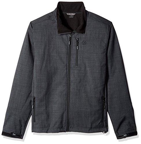 Wrangler Men's Water Repellent Trail Jacket-Big and Tall, Charcoal, 2XT