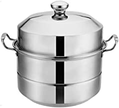 MSWL Stainless Steel Steamer Commercial Household Double-layer Steamer Thick Stainless Steel Steamer Large Capacity Good Q...