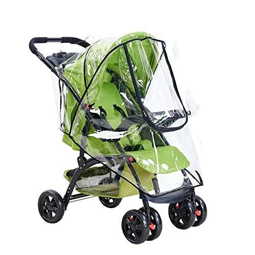 Yosoo Protector impermeable para cochecito de bebé, impermeable para la lluvia y el viento, universal para cochecitos de paseo con ventana, se adapta a la mayoría de los cochecitos