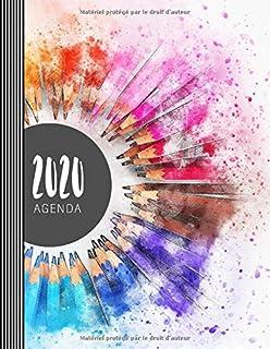 2020 Agenda: Grand Semainier et Calendrier – Citation au Verso – To Do List +..