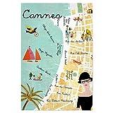 artboxONE Poster 60x40 cm Städte Cannes Côte d'Azur