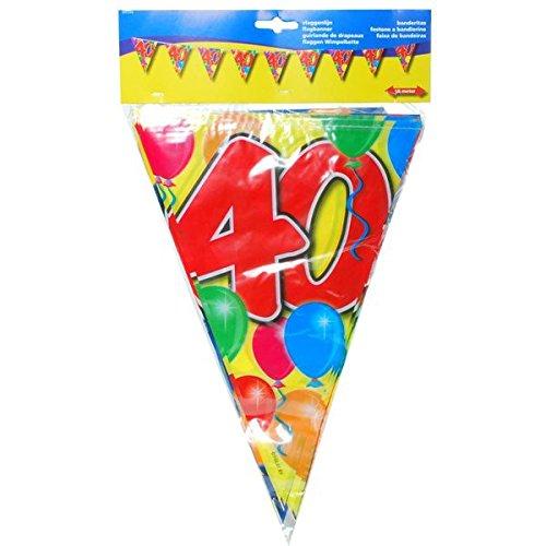 Udo Schmidt Kleurrijke verjaardag wimpel slinger 40 jaar party decoratie verjaardag