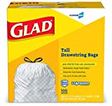Glad-78526 Tall Kitchen Drawstring CloroxPro Trash Bags - 13 Gallon - 100 Count (Packaging May Vary)