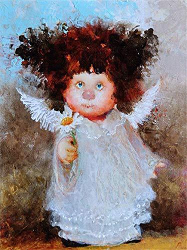 N\A Pintura por Numeros Adultos Niños - Kit Pintura Niños - Manualidades Adultos - DIY Angelito