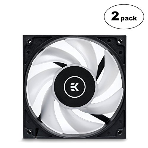 EKWB EK-Vardar EVO 120ER RGB 120mm PWM Fan, 2200 RPM, Black, 2-Pack