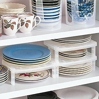 bureze los platos apilables estante de drenaje rack de calidad cocina almacenamiento plástico único aparador