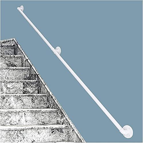 Pasamanos De Escalera (1ft-20ft). Barandilla De Montaje En Pared, Barandillas De Escaleras De Hierro Forjado, Barandillas De Interior Y Exterior De Escaleras De Porche ( Color : White , Size : 2ft )