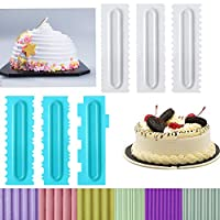 ケーキスクレーパーセット ケーキスクレーパー スムーザーツールセット プラスチックのこぎり バタームースのデコレーション クリームケーキエッジ キッチンベーキング型 DIYツール 装飾コーム フロスティングツール スクレーパー