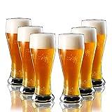 MGCtech Set di Tazze 6 in Ogni Gruppo 14 Once Piccole 17 Once Grandi 22 Once Bicchieri di Design per Bere Birra O Soda, Vendiamo Solo Tazze (Color : Transparent, Size : 7.5 * 7.5 * 21.8cm)