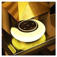 Yangmanini DRDムーンベイライトのBluetoothスピーカーフォンスマートタッチワイヤレスBluetoothスピーカー小型LEDナイトライトブルー (Color : Yellow)