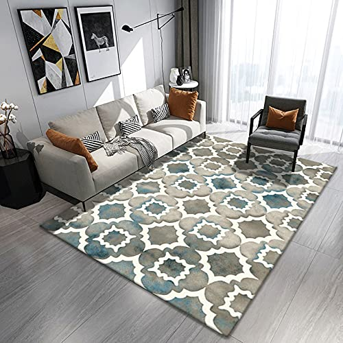Modern Simple Thick Double-Layer Living Room Carpet Non-Slip Durable Office Floor Mats Washable Pet Carpet Can Be Used For Bedroom Bedside Mats, Door Mats