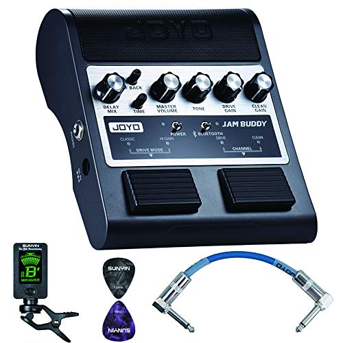 Electric Guitar Amplifer,Portable Practice Guitar Effect AMP,Pedal Style Amp Bluetooth 4.0 Dual Channel 2x4W...